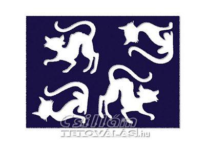 Tükör testfestő minta sablon Egy minta 4-6cm TM-14 Cica, macska