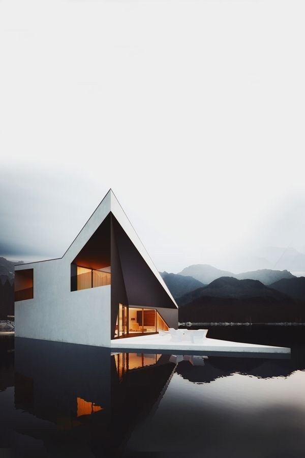 No. Words to describe this house planted in an Amazing landscape #contemporary #architecture #black #industrial #landscape #living