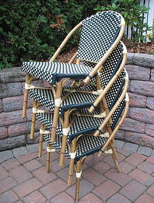 Wicker Furniture Warehouse  Rattan French Bistro Chair  $119 ea