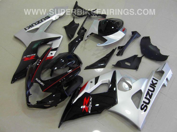 2005-2006 GSXR-1000 Black & Silver Suzuki Fairings