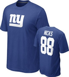 ... Hakeem Nicks 88 Blue Nike New York Giants Name Number T-Shirt 31.99 ... f94e5bdf3