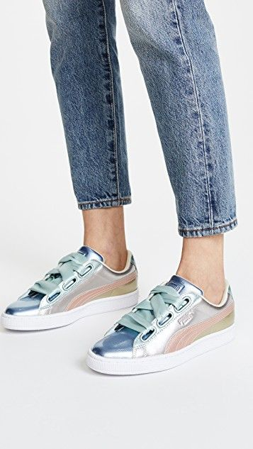 Clothing, Shoes & Accessories Puma X Bts Basket Patent Sneakers Size 10 Womens Good Taste