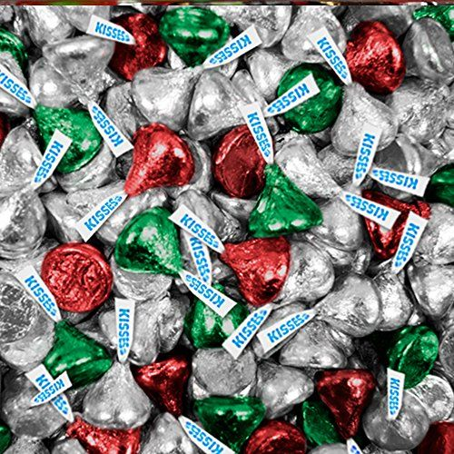 Hershey Kisses - Bulk - Red, Green and Silver - Christmas...