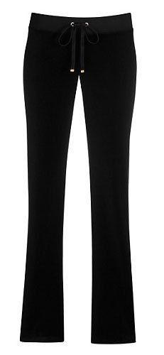 Juicy Couture Tracksuit Original Velour Drawstring Pant Black Juicy Couture. $87.00