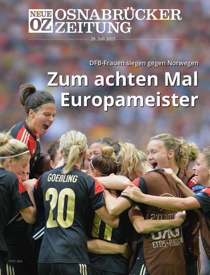 Europameister! In unserer aktuellen iPad-Ausgabe beschäftigen wir uns mit dem Sieg der Deutschen bei der Frauenfußball-EM.  www.noz.de/digitalabo