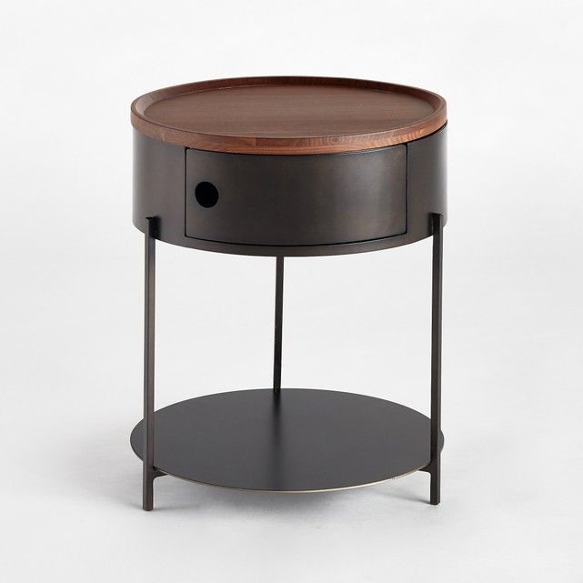 Image Talbingo Solid Walnut Bedside Table AM.PM.