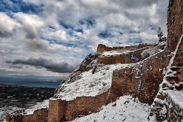 Αρχαία Κόρινθος τον χειμώνα