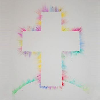 Colourful Cross - Sunday School Bible Crafts for Kids