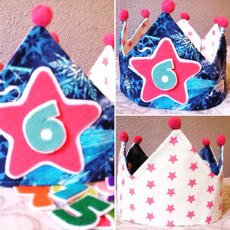 Corona  de cumpleaños  modelo frozen ❄️ handmade ✂️