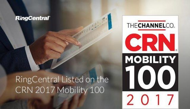 We're excited to share that RingCentral has been named to #CRN's 2017 #Mobility 100 List! This #recognition reinforces our #mobile-first approach to providing a #communications solution that empowers today's modern, distributed #workforce // #Mobility #EnterpriseCommunications #MobileFirst #MobileCommunications #Business #BusinessNews #BusinessAward #Technology #TechNews