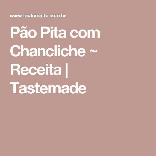 Pão Pita com Chancliche ~ Receita | Tastemade