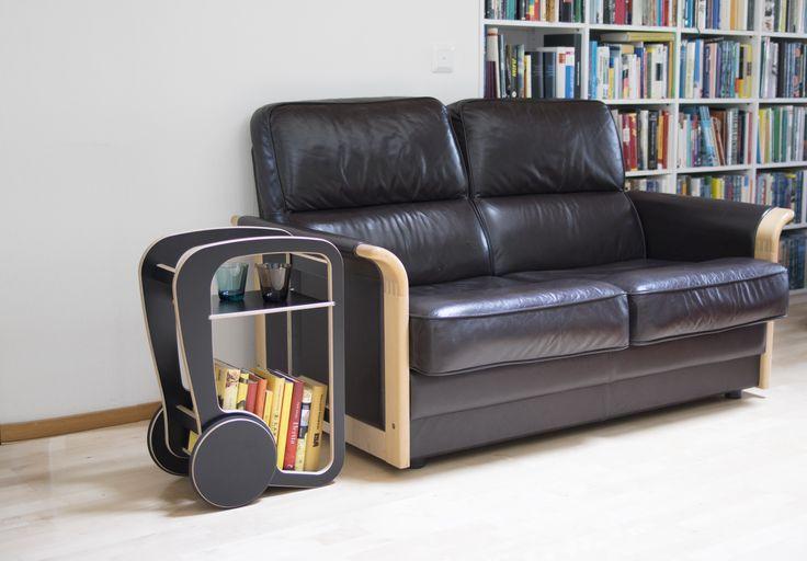 black fleimio mini as a sofa table.