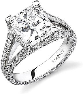 Stardust .90ct Micro Pave Split Shank Engagement Ring SDN1706PR