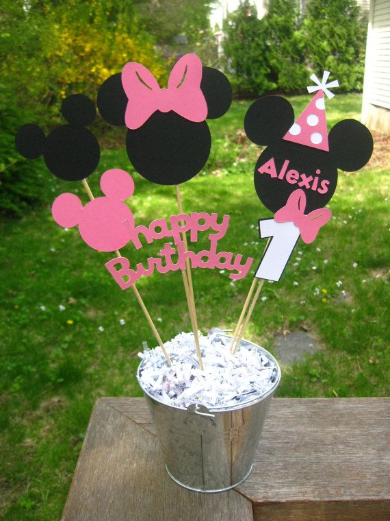 Minnie Mouse Birthday Table Centerpiece by PeanutGalleryStore