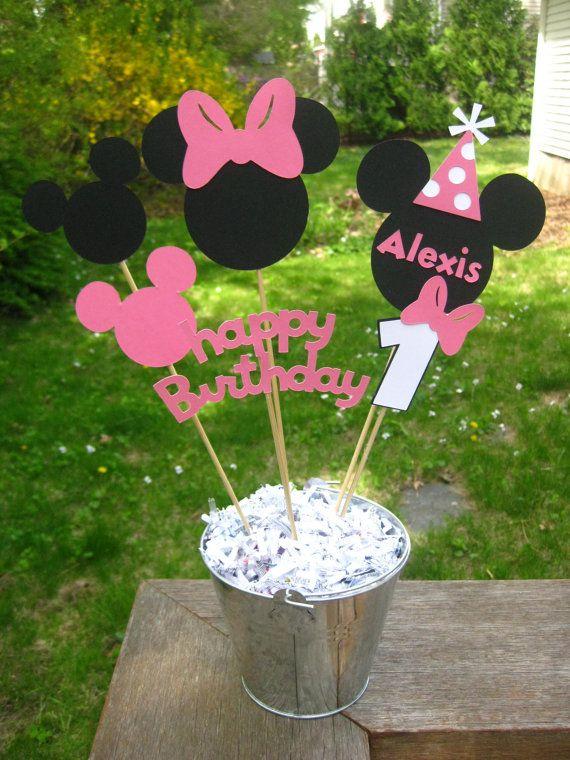 Minnie Mouse Geburtstag Tisch Mittelpunkt von PeanutGalleryStore