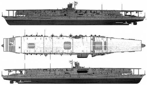 IJN Akagi - Portaerei - Varata22 aprile 1925 Entrata in servizio27 marzo 1927 - Dislocamento42.000 t Lunghezza260,68 m Larghezza 31,32 m Pescaggio8,71 m Propulsione19 caldaie, turbine ad ingranaggi e propulsione elettrica, 4 eliche, 133.000 shp Velocità31 nodi (58,3 km/h) Autonomia8.200 nm a 12 nodi Equipaggio2.000 - CorazzaturaCintura: 152 mm Ponte: 79 mm - Affondata nella battaglia di Midway