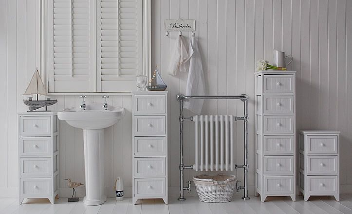 Range of maine bathroom cabinets tall narrow and slim a for Bathroom cabinets the range