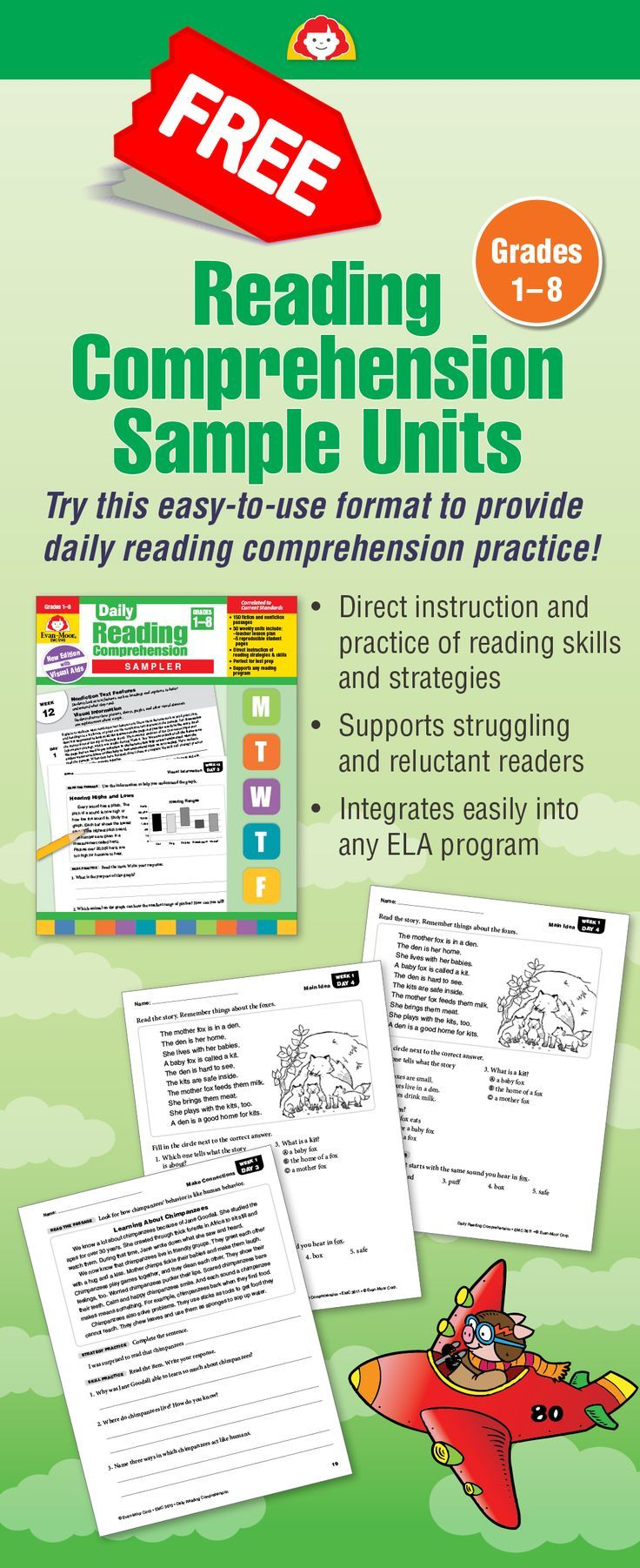 Pin On English Daily reading comprehension grade 8