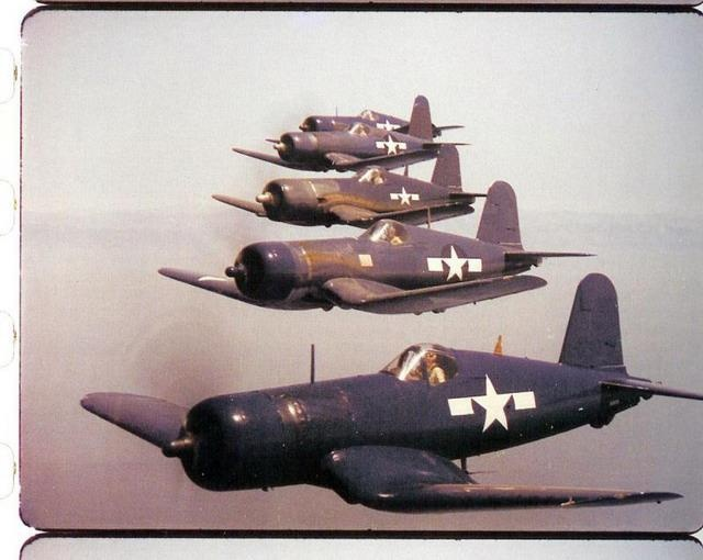 "Five Corsair in the ""Black Sheep Squadron"