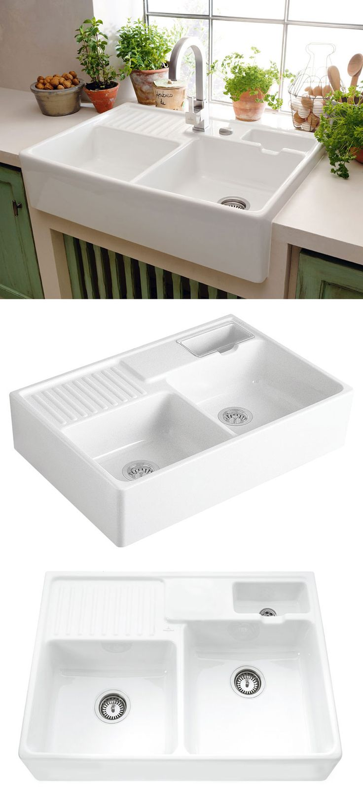 Villeroy and Boch Butler 2.25 bowl Belfast sink. http://www.sinks-taps.com/item-465-BUTLER_2_25_Bowl_Belfast_Sink_.aspx