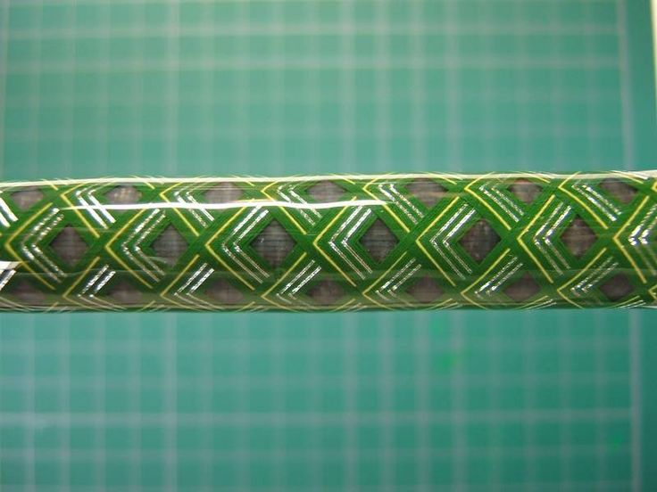 Deco rod wrap axes chevron fishing rod building photo for Wrap fishing system