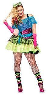Plus Size Neon 80s Costume for Women