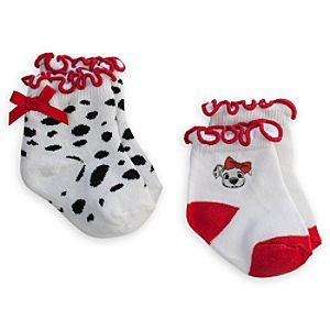 Disney 101 Dalmatians Ruffled Sock Set for Baby - 2-Pack   Disney Store101 Dalmatians Ruffled Sock Set for Baby - 2-Pack - Little pups will love our sweet and playful 101 Dalmatians Ruffled Sock Set for Baby. The two pairs each have a distinctive style, sure to bow<i>WOW</i> everyone.