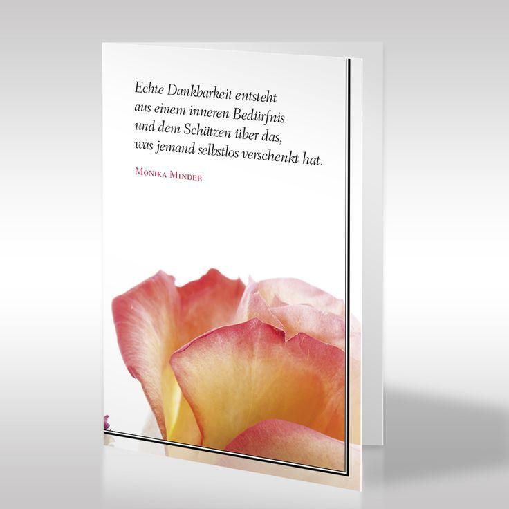 """Wie bedankt man sich bei den Trauergästen? Design-Trauerkarten bietet eine dezente Lösung. Die Dankeskarte """"Blüte im Trauerkleid"""" ist unser Vorschlag. https://www.design-trauerkarten.de/produkt/bluete-im-trauerkleid-2/"""