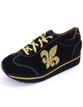 Volatile Prima Women's Lace-Up Saints Shoe just in time for football season, WHO DAT!