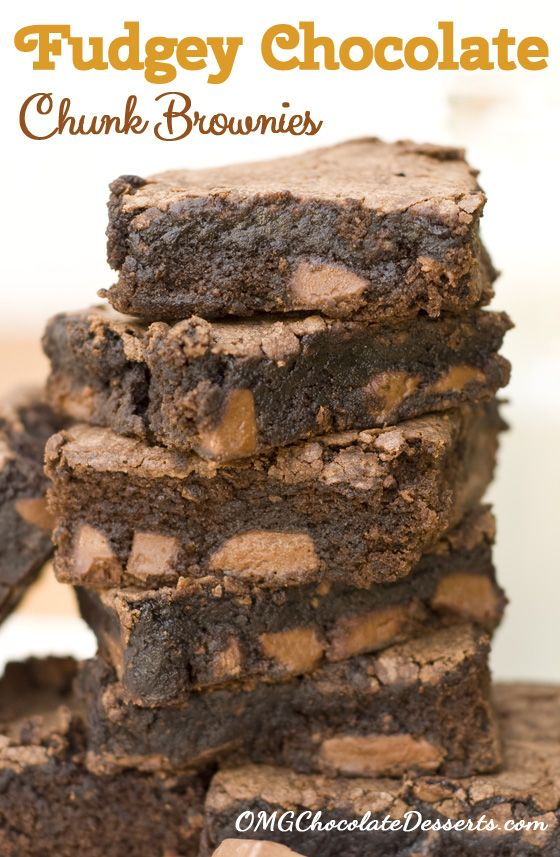 Fudgey Brownies with Milk Chocolate Chunks Recipe ~ absolutely divine!