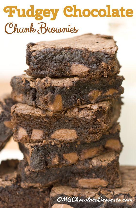 ... Chocolate Chunk Brownies, Desserts Brownies, Food Recipe, Chocolate