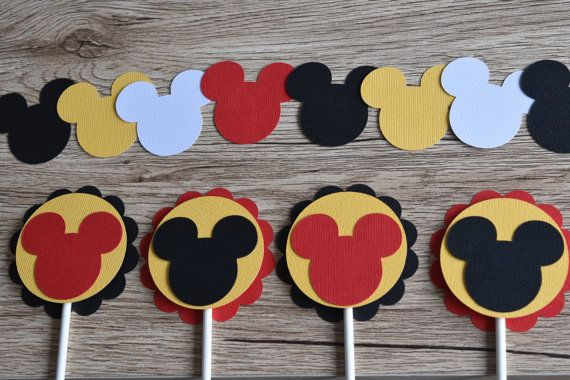 Mickey Mouse Party Decoration Minnie Mouse party by Littlebitslane