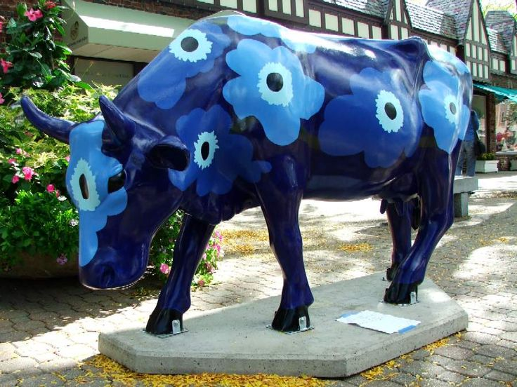 Cows on Parade - Unikko Blue