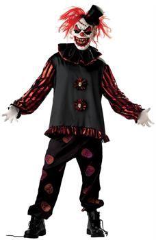 Evil Crazy Killer Clown Adult Costume