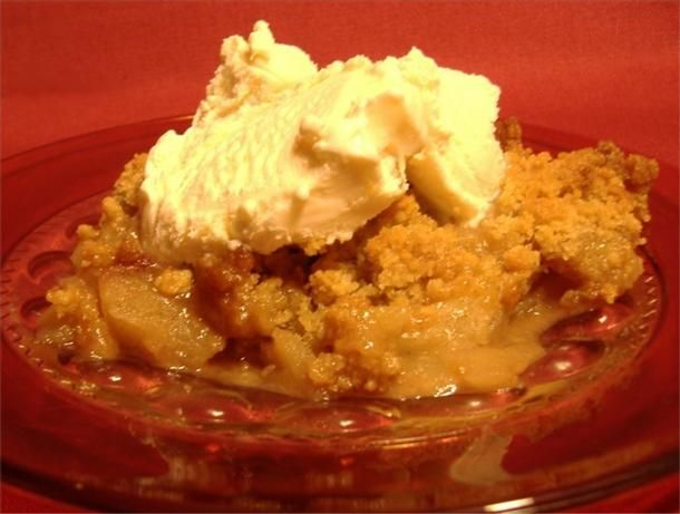 """Quick & Easy Apple Crisp from Food.com:   A traditional autumn dessert that's delicious served with vanilla ice cream. I've often made this recipe """"diabetic-friendly"""" without sacrificing taste or quality by using Splenda No-Calorie Sweetener. Directions are included."""