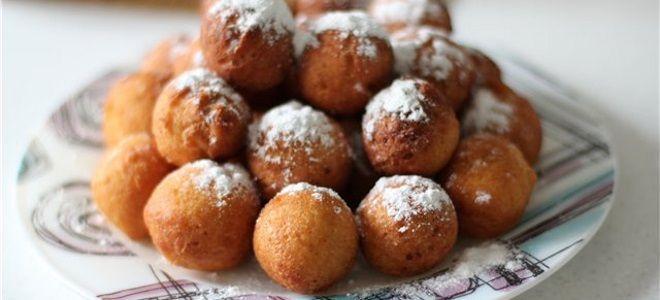 Творожные пончики шарики