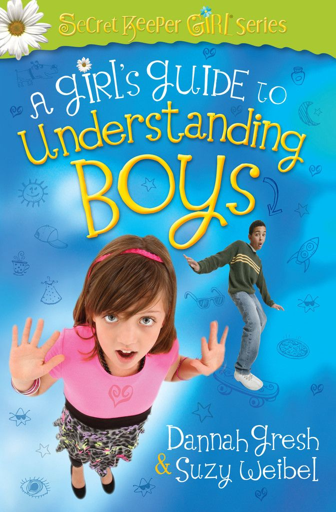 A Girl's Guide to Understanding Boys  Peer pressure and relationships with boys are scary topics in mother-daughter relationships. That's why Dannah Gresh, creator of the Secret Keeper Girl events, and Suzy Weibel have developed this resource for tween girls like yours...during those wonderful but scary years when they start thinking about boys differently and encounter our culture's destructive messages.