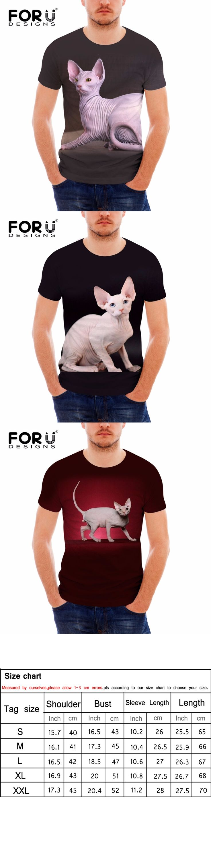 FORUDESIGNS Brand Designer Men Women T Shirts 3D Sphynx Printed Top Tees for Male High Quality Streetwear Hip Hop Tees Wholesale
