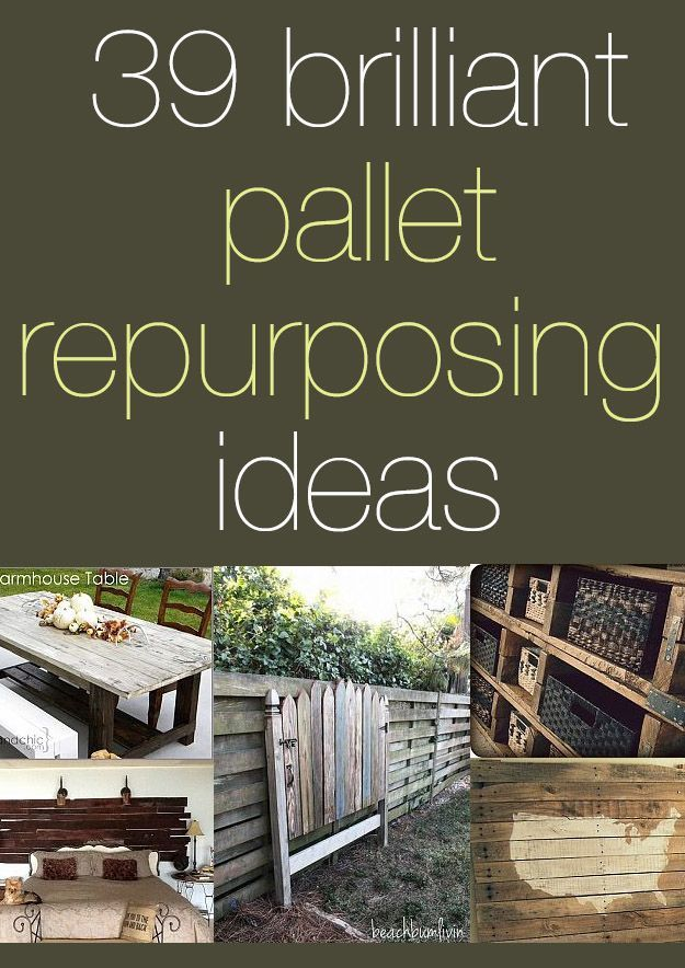 39 unexpected ways to upcycle leftover pallets into furniture, swings, benches and more! Plus a guide to safely collecting pallets