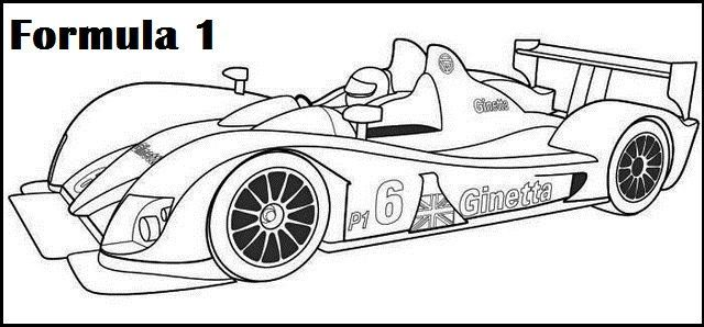 Racing Formula 1 Coloring And Activity Picture