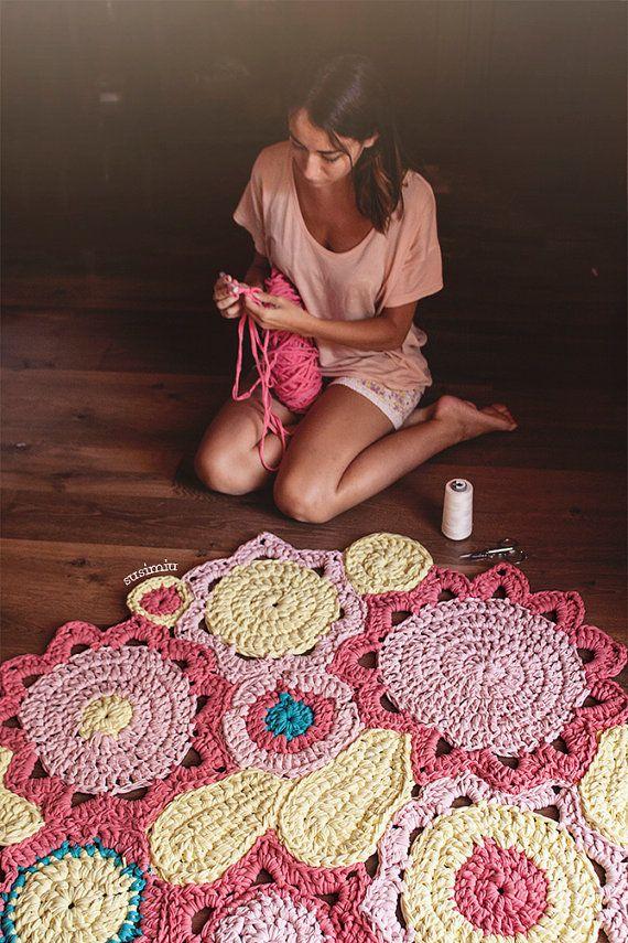 M s de 1000 ideas sobre alfombras de trapo en pinterest for Modelos de alfombras