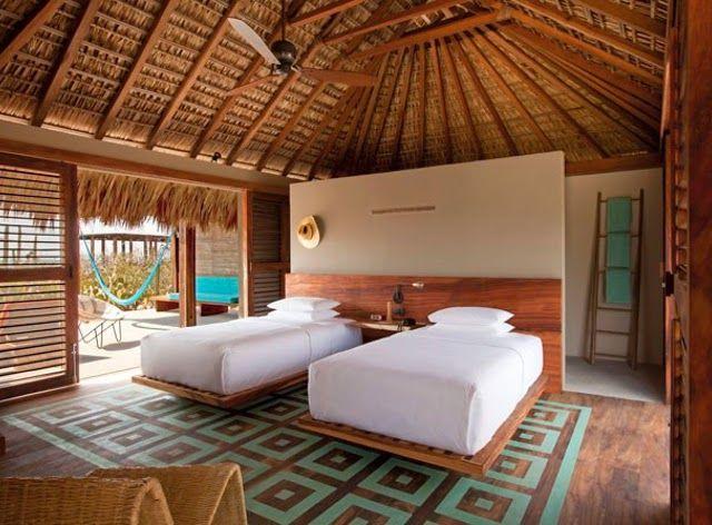 O-destaque-da-semana-#10-no méxico.  Hotel Escondido, fica no México de frente para o mar. Um luxo! O verdadeiro santuário para os amantes de ondas e glamour rústico.