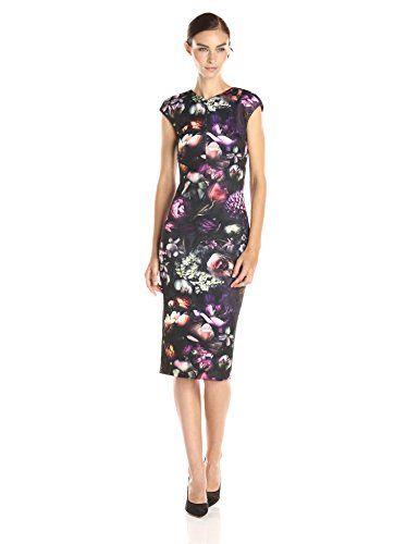 Ted Baker Women's Raisie Shadow Flora Cap-Sleeve Bodycon Dress