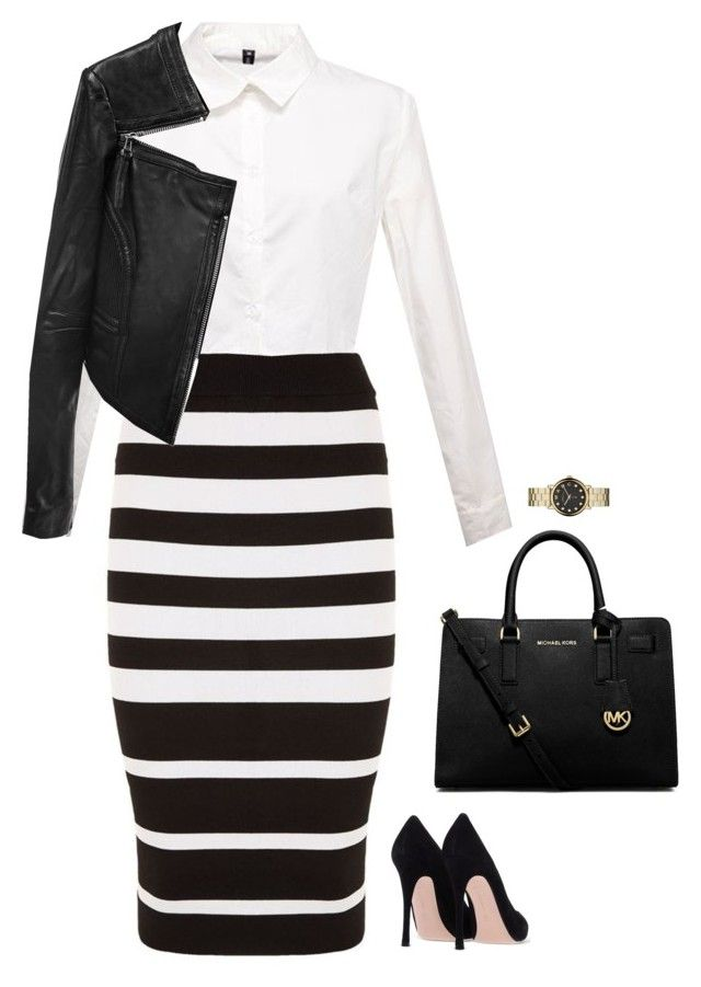 """#2300"" by azaliyan ❤ liked on Polyvore featuring DKNY, MICHAEL Michael Kors, Marc by Marc Jacobs and Linea Pelle"