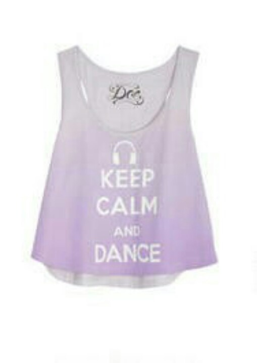 keep calm violet beach tank (cute for the beach) from dELIAS...bandeau or sports bra would be the good choice for under this tank top. I would change the color to a pastel, neon, or salmon color