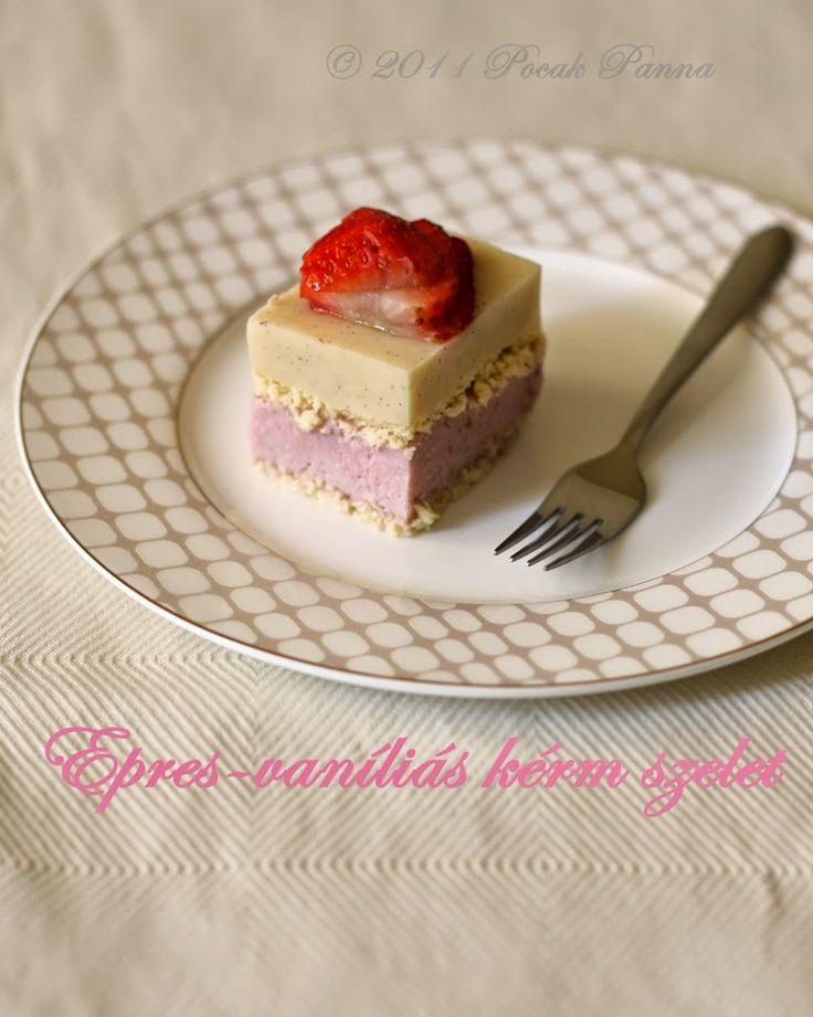 Pocak Panna paleo konyhája: Epres-vanililás krémszelet (paleo)