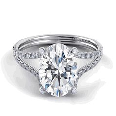Danhov Classico Oval Solitaire Split Shank Engagement Ring.... love