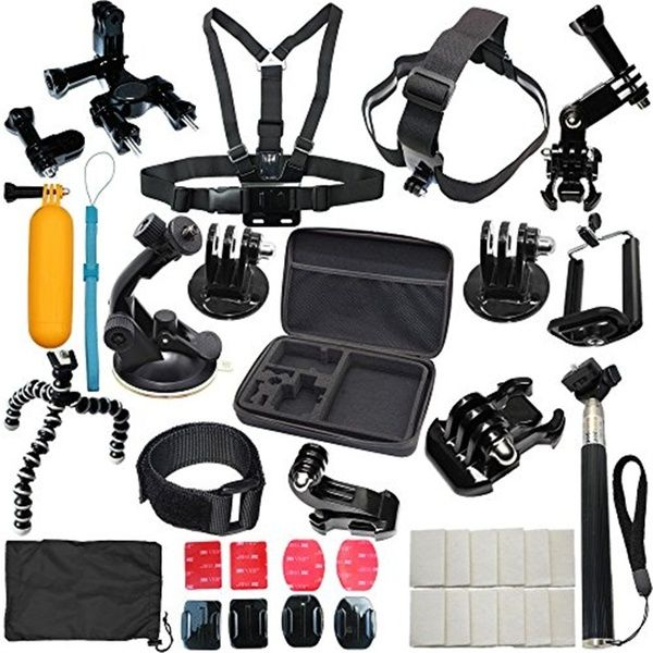 37 In 1 Sports Accessories Kit Bundle Attachments For Gopro Hero 5 4 3 3 2 1 Sj4000 Sj5000 Hd Action Video Cameras Dvr Storage Case Included Wish Gopro Hero 5 Gopro Gopro Hero