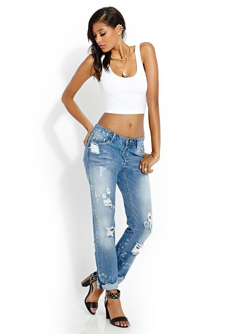 Laid Back Boyfriend Jeans In 100 Cotton FOREVER21