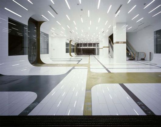 SIGNTERIOR Office Building And Shopping Development Located In Shanghai China By A ASTERIK Interior ShopOffice DesignFuturistic